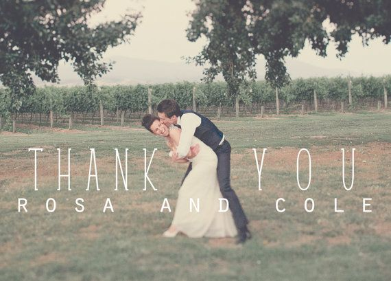 Wedding Thank You Postcards: Rustic by violaprints on Etsy