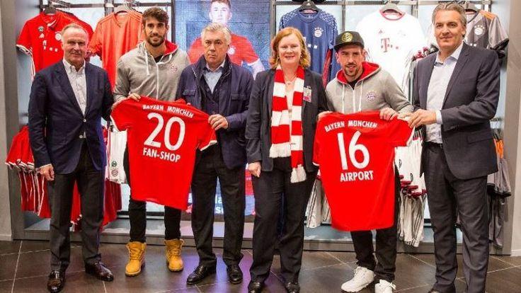 El FC Bayern inaugura una tienda en el aeropuerto de Munich