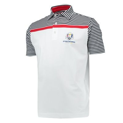 The 2018 Ryder Cup FootJoy Engineered Stripe Lisle Polo - Mens - £70