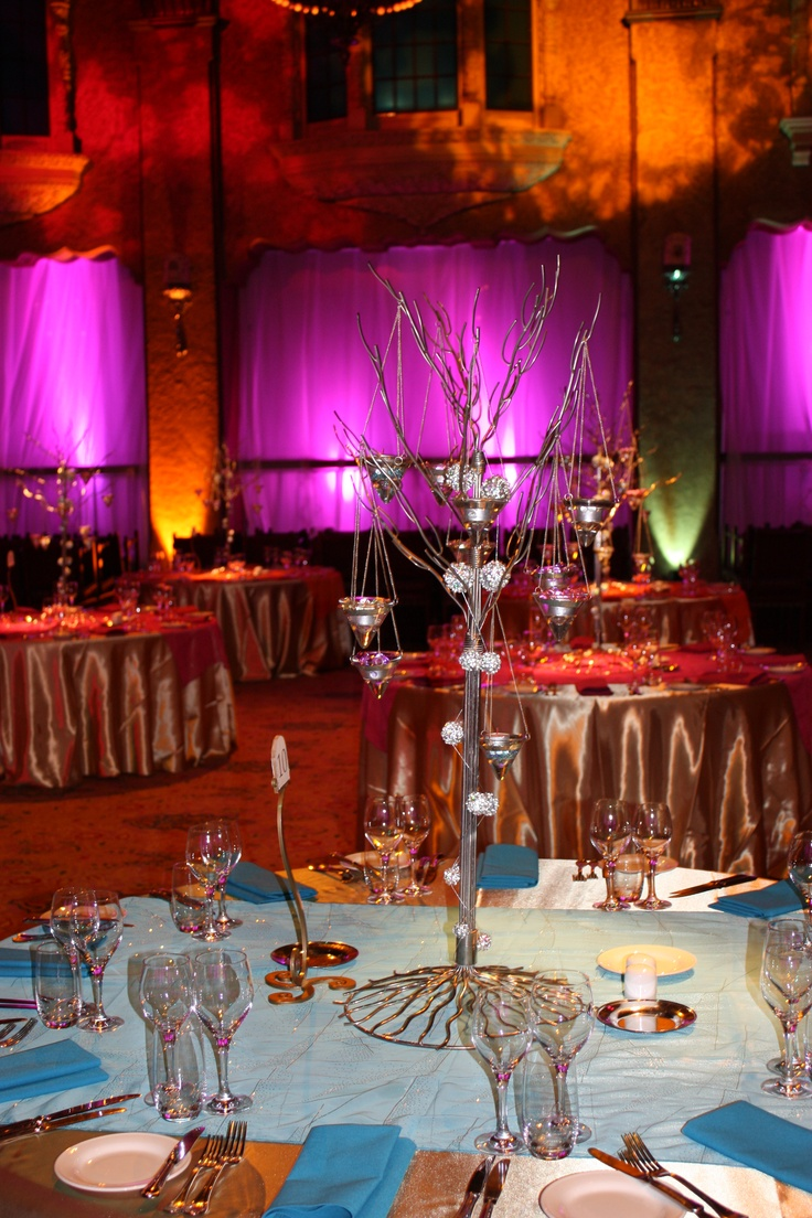 Jewel tone reception decor