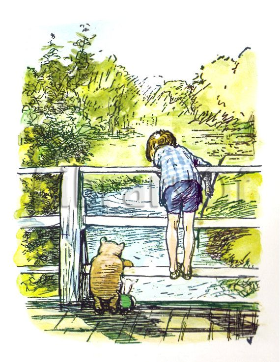Winnie The Pooh by E.H. Shepard  Prints - Vintage Art Reproduction - Choice of Four
