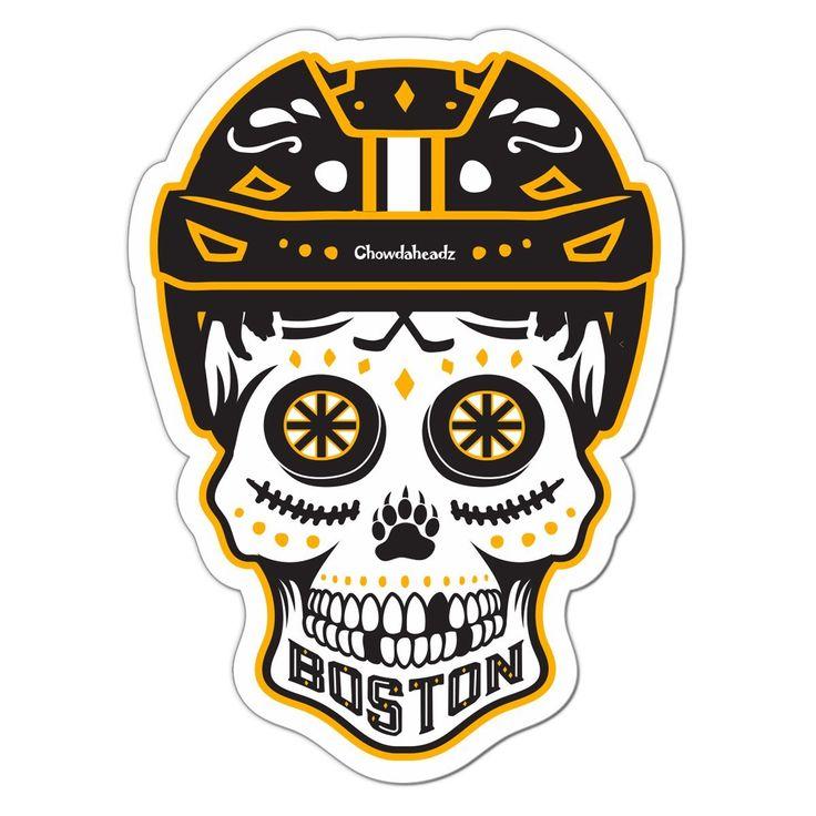 Boston black gold dead head sticker