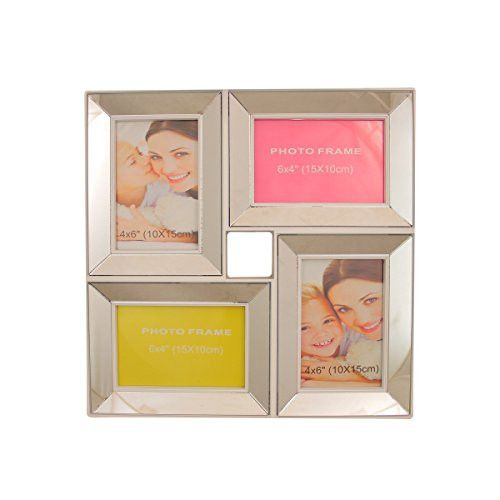 Felices Pascuas Collection 13.75 inch White Trimmed Glass Encased Photo Picture Frame Collage Wall Decoration