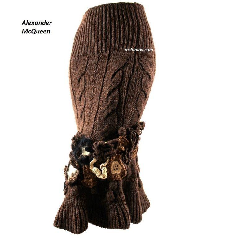 El hacer punto de la falda de Alexander McQueen