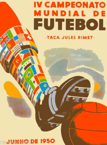1950-World-Cup-Soccer-Brazil-South-America-Sports-Travel-Advertisement-Poster