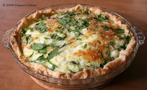Spinach Gruyère Quiche | Whats Cooking | Pinterest