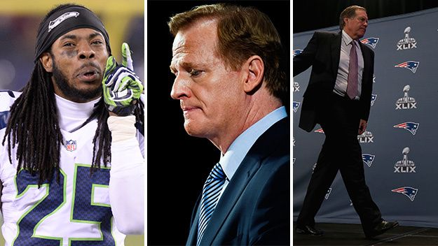 Approval of Roger Goodell continues to plummet. Patriots head coach Bill Belichick and Seahawks corner Richard Sherman are the latest to put the much-maligned NFL commissioner in his place.