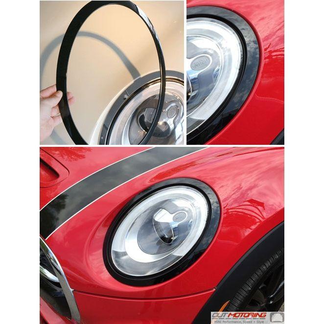 Mini Cooper Blackout Headlight Rings Gen3 Mini F56 Mini Cooper Accessories Mini Cooper Parts Mini Cooper Accessories Mini Cooper Stripes Mini Cooper