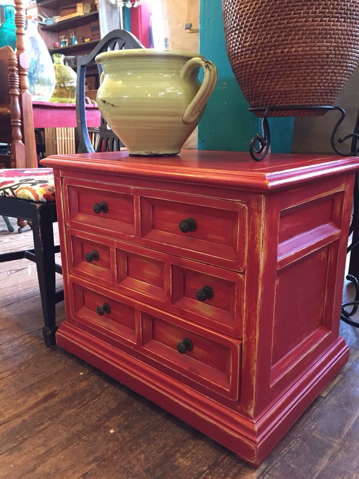High Quality Nightstand Distressed In American Dream Over Grannyu0027s Cornbread By Junk  Gypsy Chalk U0026 Clay Paint.