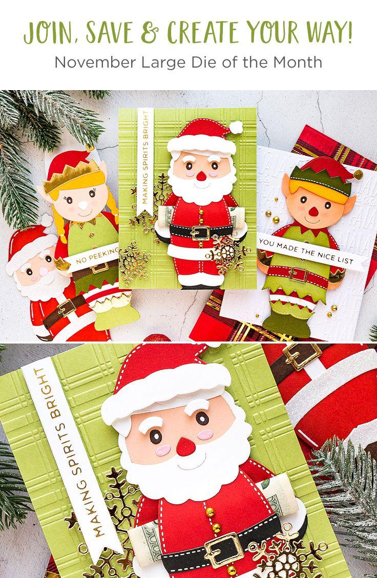 SANTA/'S LITTLE HELPER STOCKING ELF Embellishments card making die cuts