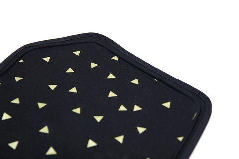 Geode Dog Food Mat / Black