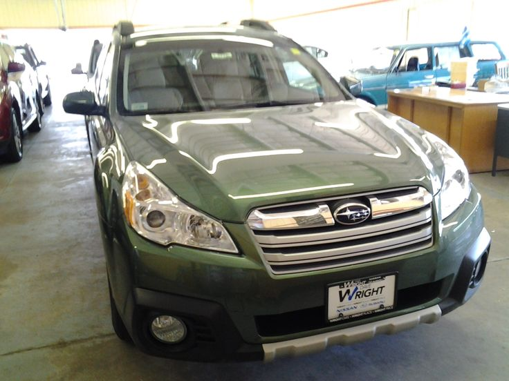2013 Subaru Outback in Cypress Green Pearl,  SL14027