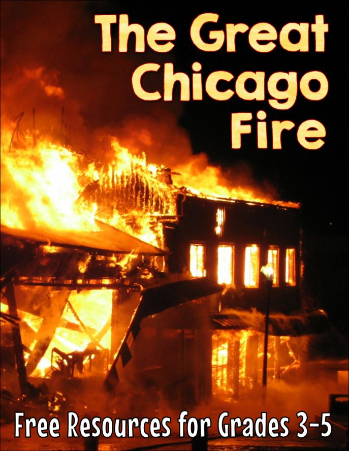 Love these free upper elementary resources for Fire Prevention Week! Teaching kids about the great Chicago fire is a super way to integrate fire safety and prevention lessons into the social studies curriculum!