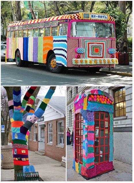 yarn bombing #wool #yarn #knitting #knit