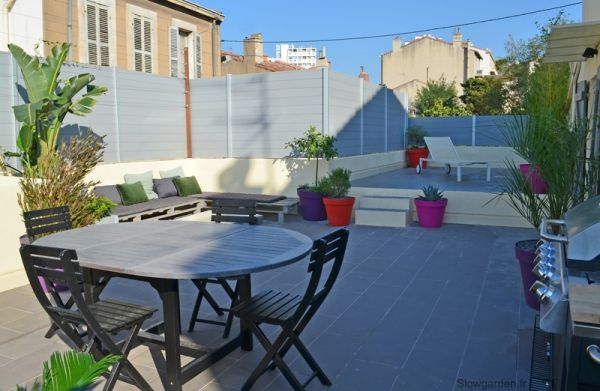 relooking d 39 un toit terrasse marseille slowgarden my work pinterest marseille. Black Bedroom Furniture Sets. Home Design Ideas