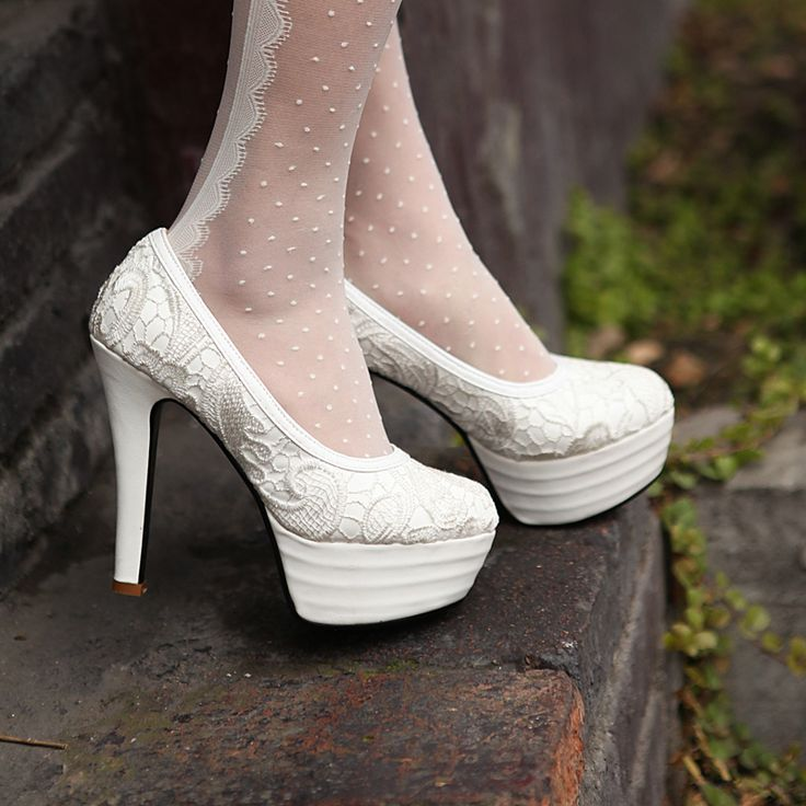 Aliexpress Buy 2013 New Style White High Heel Shoes Lace Princess Wedding