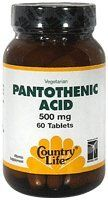 Country Life Pantothenic Acid, 500 mg, 60-Count * Read more reviews of the product by visiting the link on the image.