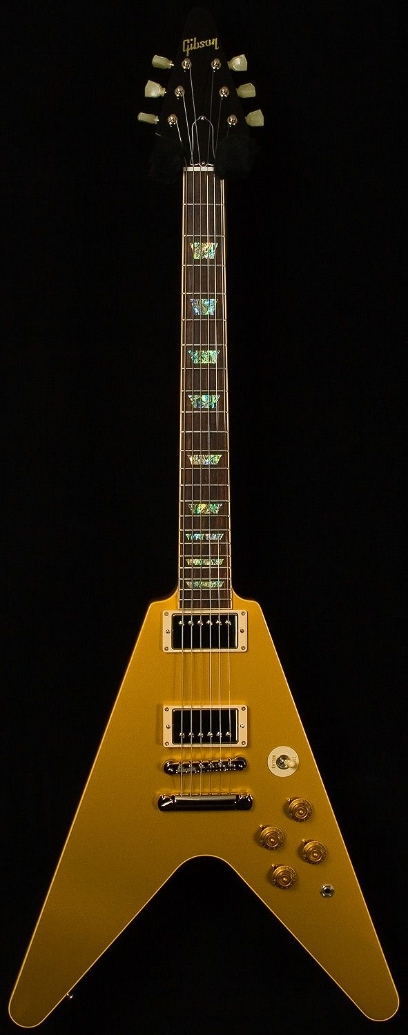 Gibson Custom Shop | Limited run Flying V Standard. Gold top.