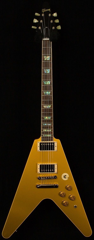 Gibson Custom Shop Limited Run Flying V Standard Gold Top  - Shared by The Lewis Hamilton Band - https://www.facebook.com/lewishamiltonband/app_2405167945  -  www.lewishamiltonmusic.com