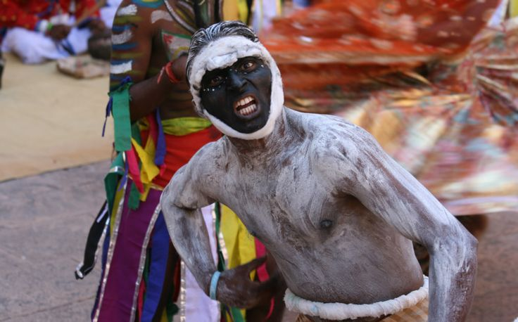 Indian man in a festival costume
