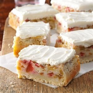 Rhubarb Custard Bars Recipe from Taste of Home