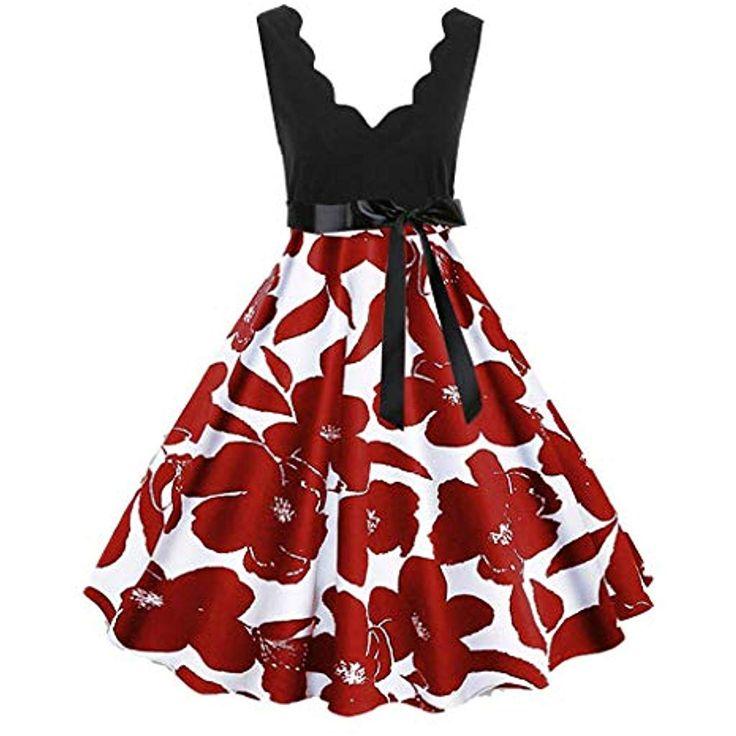 MAYOGO Festliche Kleider Vintage 1950er Abschlussball Kleider Damen Musikalische…