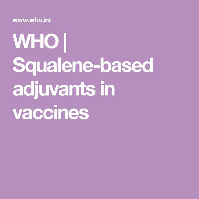 WHO | Squalene-based adjuvants in vaccines