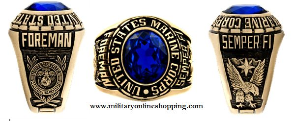 This is a fully custom made #marine corps ring showing all personal details. See them at http://www.militaryringsonline.com/marine-corps-rings/ today
