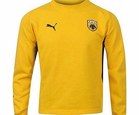Puma Kids Children Boys Juniors AEK Black Top Shirt Sweater Sport Sweatshirt Yellow 11-12 (LB) No description (Barcode EAN = 5054449685217). http://www.comparestoreprices.co.uk/boys-clothing/puma-kids-children-boys-juniors-aek-black-top-shirt-sweater-sport-sweatshirt-yellow-11-12-lb-.asp