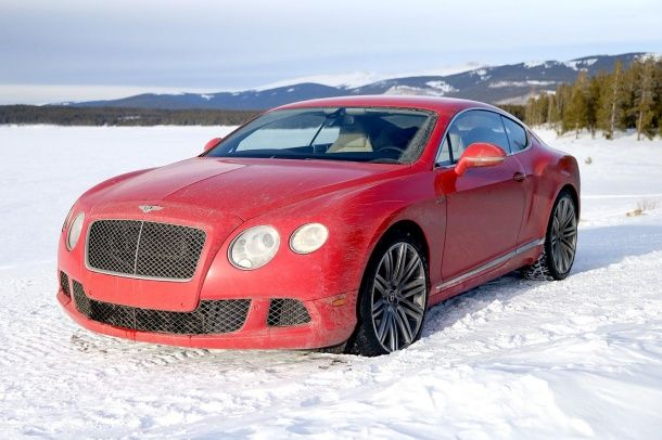 2014 Bentley Continental GT Speed red front angle 3