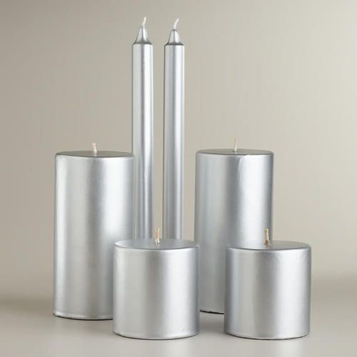 One of my favorite discoveries at WorldMarket.com: Silver Value Pack Candles