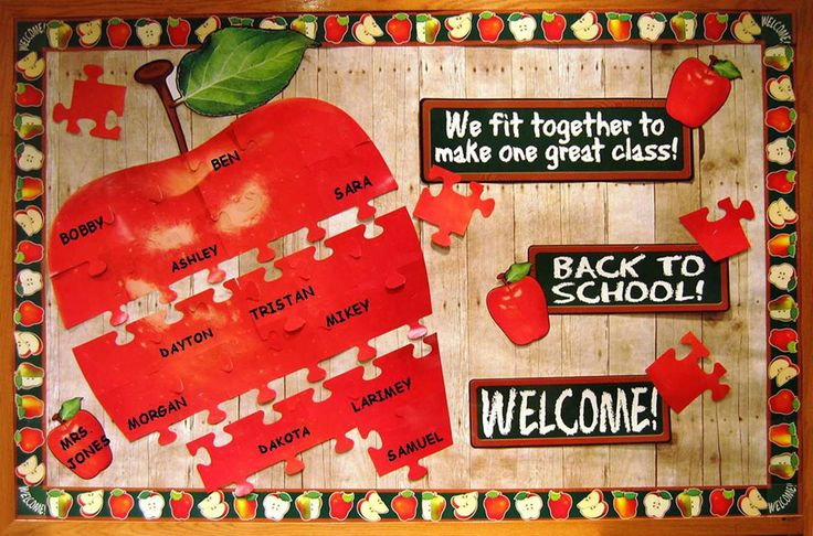 bulletin boards for back to school | Back to school puzzle