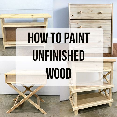 How to Paint Unfinished Pine Furniture