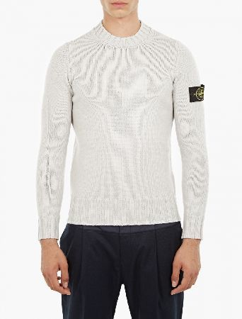 Stone Island Grey Chunky-Knit Wool Sweater The Stone Island Chunky-Knit Wool Sweater for AW16, seen here in grey. - - This sweater from Stone Island is crafted from premium wool and features a chunky ribbed collar, cuffs and hem for comfort an http://www.MightGet.com/january-2017-13/stone-island-grey-chunky-knit-wool-sweater.asp