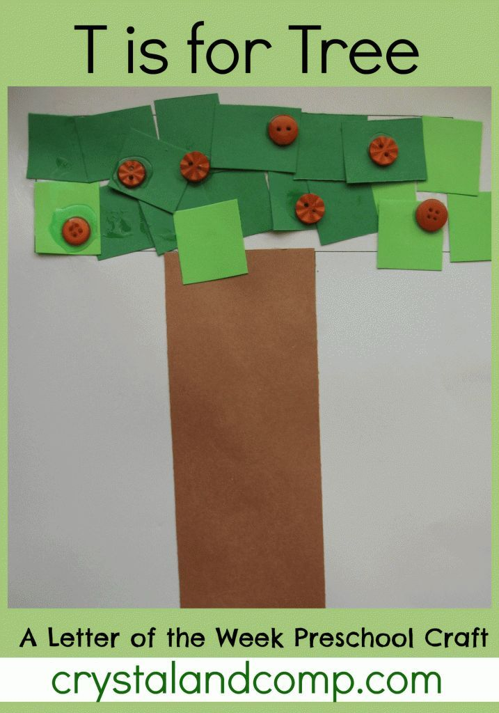 letter of the week preschool craft: t is for tree #activitiesforkids