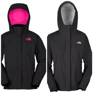 Black north face rain jacket with pink accents! A must have for fall :)