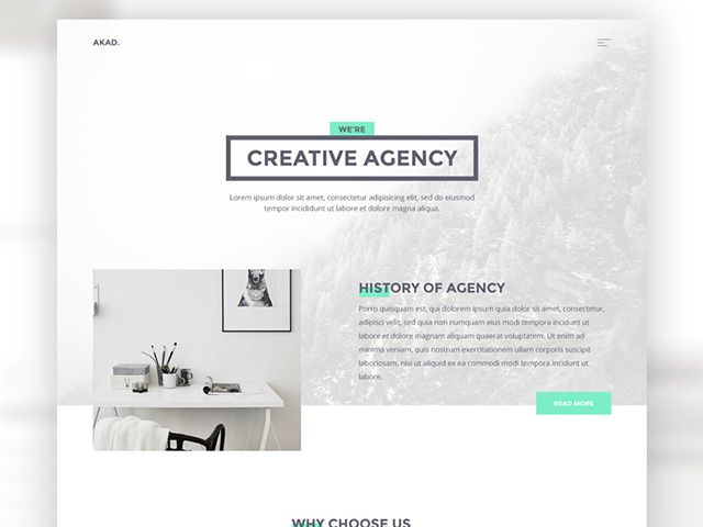 AKAD is a free HTML website template for digital agencies or for anyone who wants to showcase his own portfolio. The package also includes PSD file.