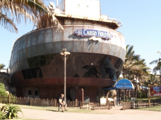Cargo Hold Restaurant at uShaka, Durban, SA. Its an old ship that has been revamped.