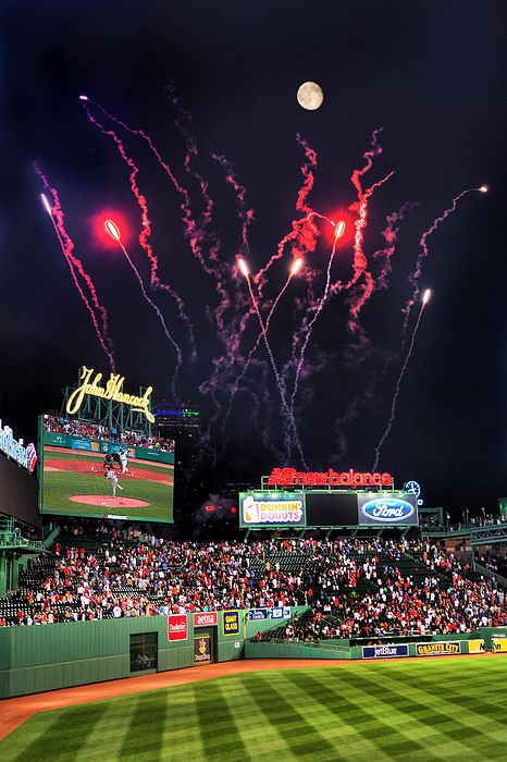 Happy 4th of July!  This was the first time Fenway Park in Boston Massachusetts had fireworks after a Red Sox game to commemorate the 4th of July. I would say it was a success! We were treated with a full moon as well.
