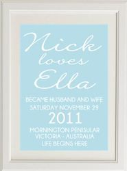 Beachy Wedding Print by Bespoke Moments. Worldwide Shipping Available.