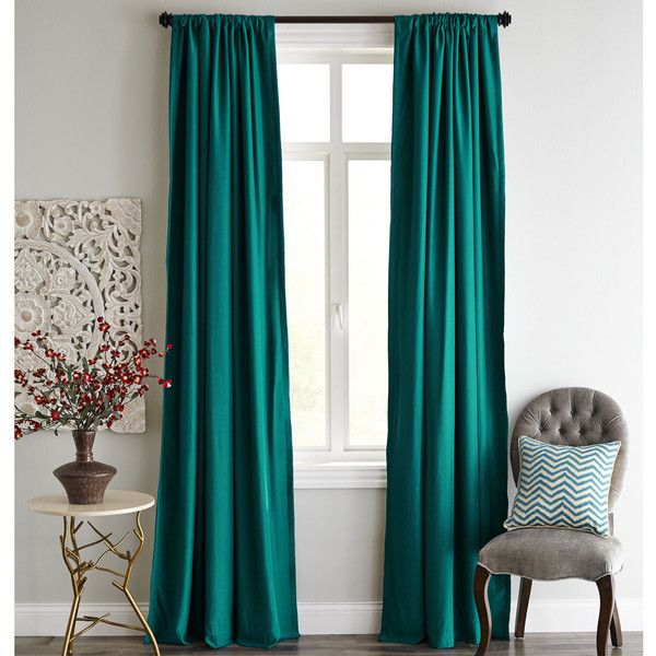 Roulette Blackout Curtain Teal ($90) Liked On Polyvore