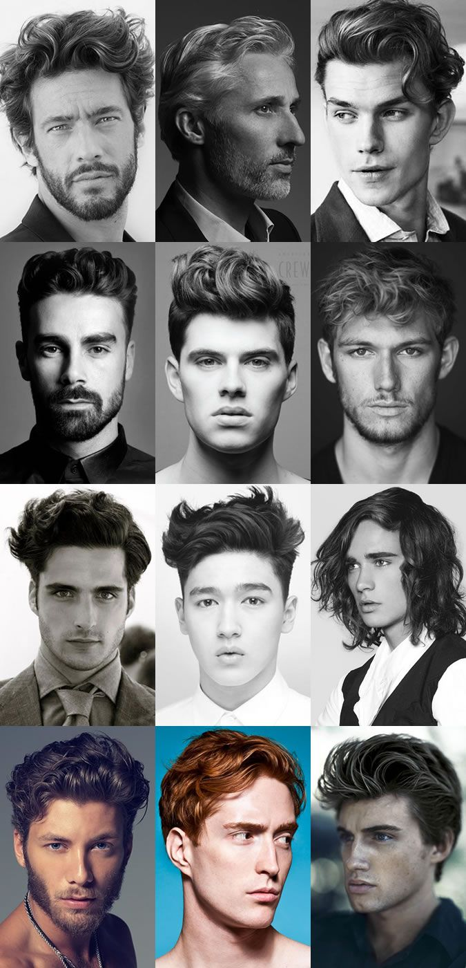 Men's Wavy Hairstyles For 2015. most are good! don't like the one that has like shoulder length hair tho :/