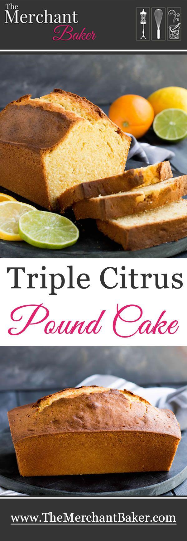 Dreifacher Zitrus-Pfund-Kuchen