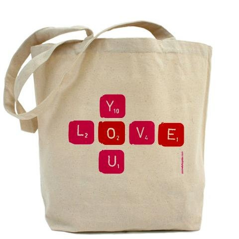 Love You - Canvas Tote Bag - Classic Shopper - FREE SHIPPING. $34.95, via Etsy.