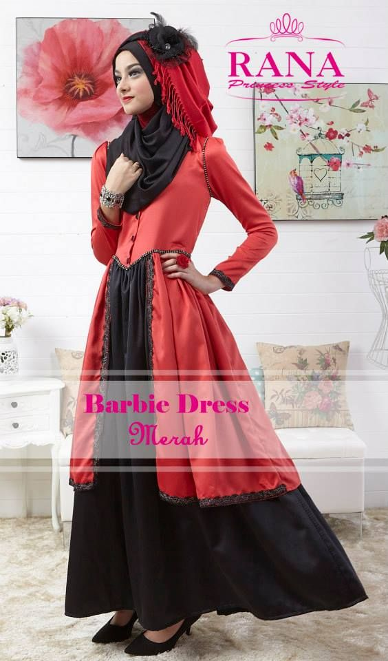 Cantik Barbie Red  http://gamismodern.org/dress-gamis-modern-barbie-merah.html