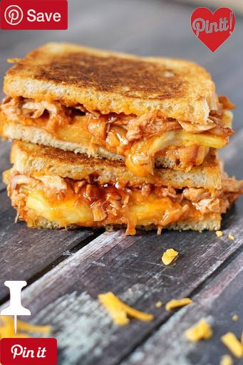 Bbq Chicken & Pineapple Grilled Cheese With Boneless Skinless Chicken Breasts Bbq Sauce Bread Extra Sharp Cheddar Cheese Pineapple Butter Nonstick Spray #delicious #diy #Easy #food #love #recipe #recipes #tutorial #yummy @mabarto - Make sure to follow cause we post alot of food recipes and DIY we post Food and drinks gifts animals and pets and sometimes art and of course Diy and crafts films music garden hair and beauty and make up health and fitness and yes we do post women's fashion…
