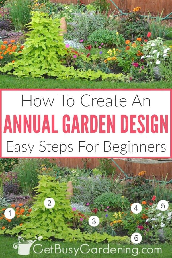 Annual Garden Design Is Much Easier Than You Think You Don T Have To Be A Landscape Desig In 2020 Annual Flower Beds Design Flower Garden Layouts Flower Garden Design