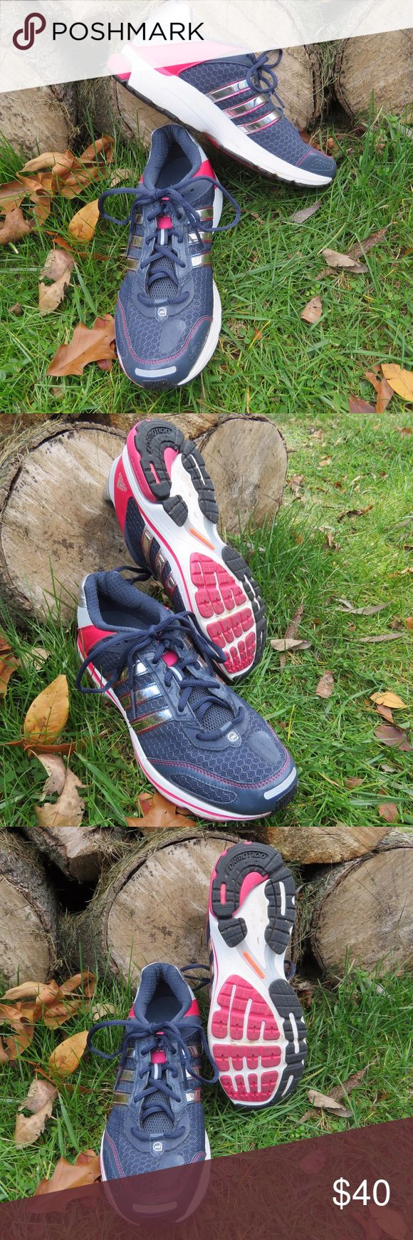 LIKE NEW - Adidas running shoes Only worn once and in great condition. Adidas Shoes Athletic Shoes