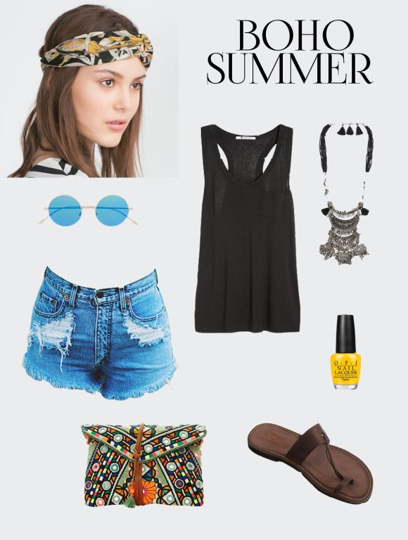 Boho summer vibe Style Board/ Outfit