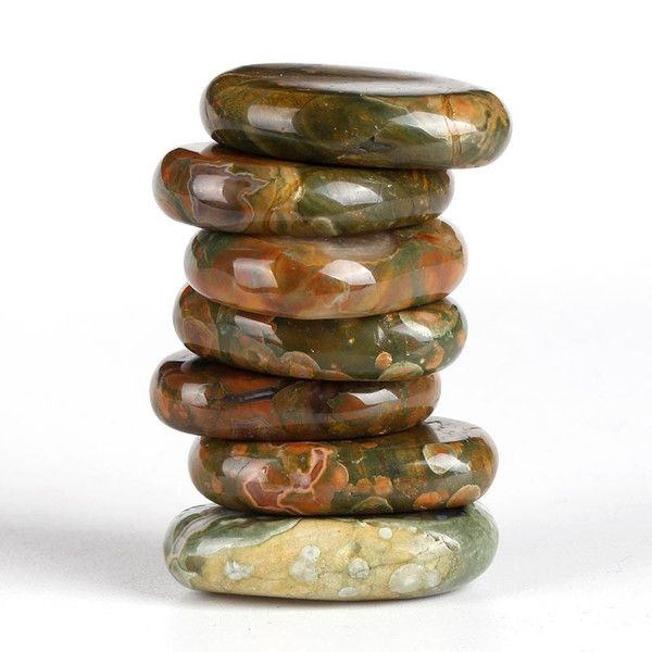 Rhyolite Polished Palm Stone Set